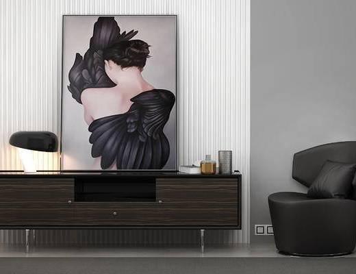 现代电视柜, 单椅