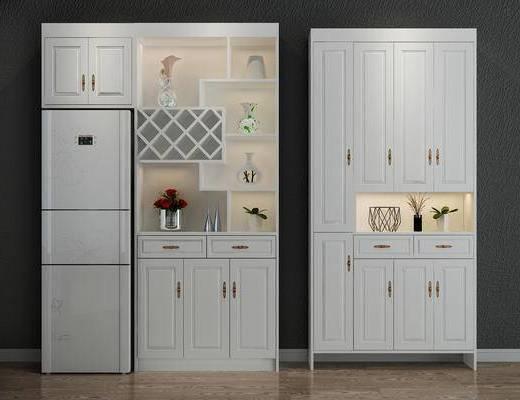 酒柜, 鞋柜, 玄关柜, 玄关鞋柜, 边柜, 装饰柜, 冰箱