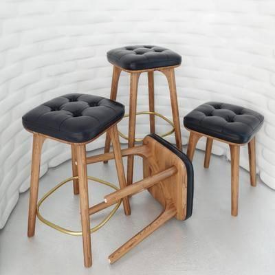 吧椅, 高脚凳, 皮革椅, 现代