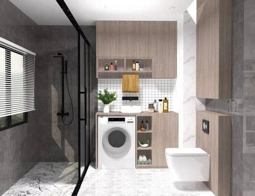 卫浴, 洗衣机, 卫浴组合, 浴柜