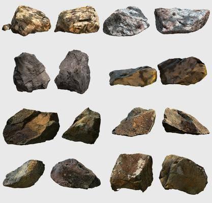 石头, 石块, 现代石块