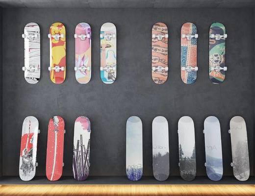 滑板, 个性滑板, 体育用品, 现代, 街头