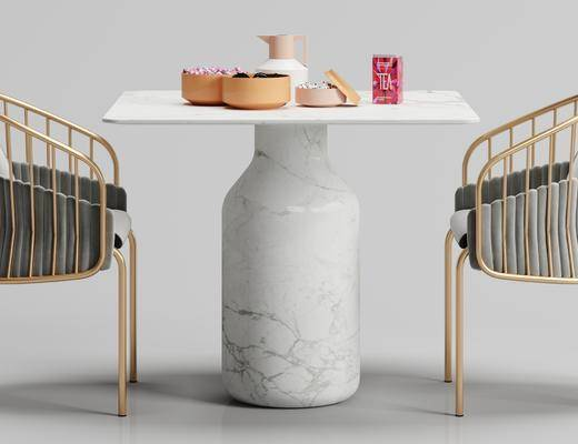 现代, 大理石, 桌子