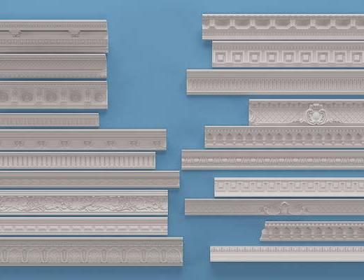 欧式石膏线条, 角线, 构件