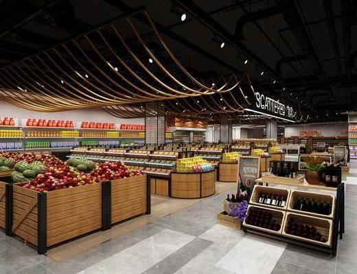 现代, 商场, 超市