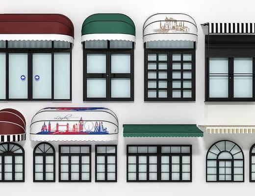 遮阳棚, 雨棚, 现在遮阳棚, 现代