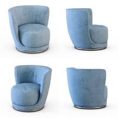 单人沙发, 现代单人沙发, 布艺单人沙发, 现代布艺单人沙发, 纯色单人沙发, 现代