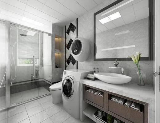 衛浴, 洗手盆, 洗浴組合