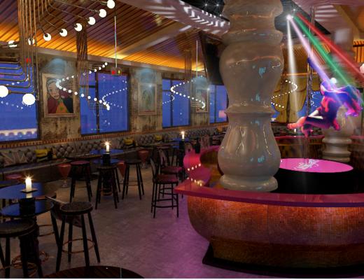 酒吧, 大厅, KTV, 舞馆, 工业风, 吊灯