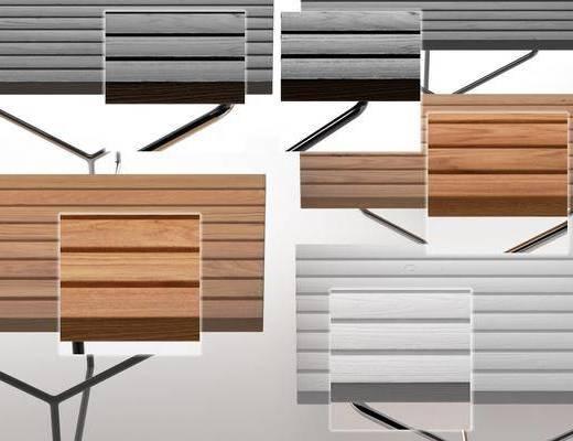 现代凳子, 户外长凳, 长凳