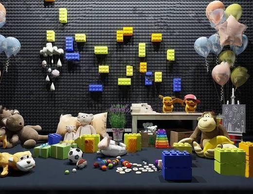 现代简约, 儿童玩具, 玩具组合