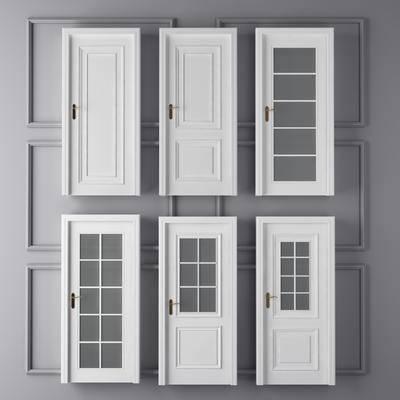 门, 卫生间门, 简欧门, 门构件, 构件