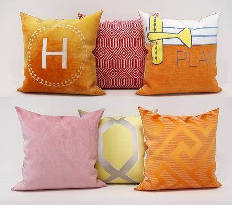 抱枕组合, 布艺抱枕, 现代