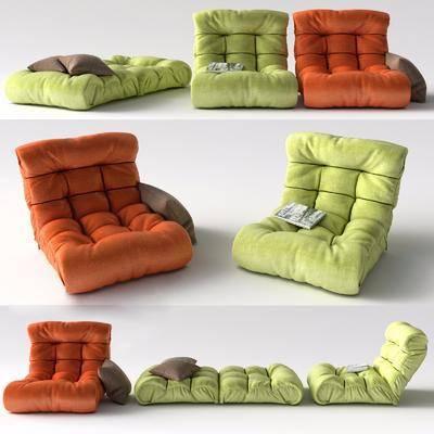 单人沙发, 沙发脚踏, 休闲沙发, 现代