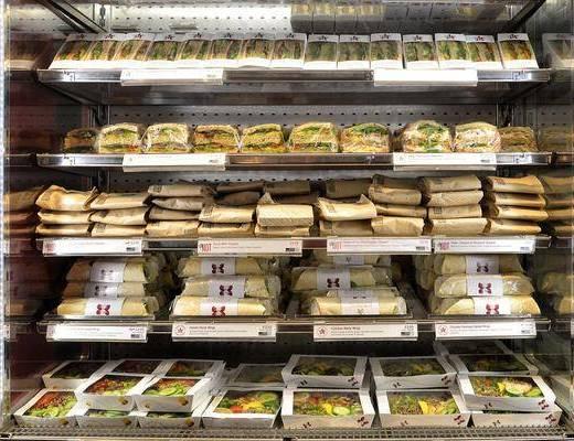现代货架, 食物