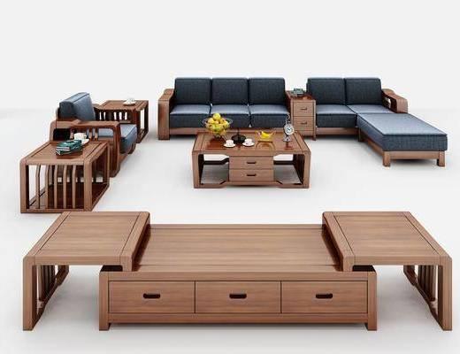 沙发组合, 沙发茶几组合, 中式