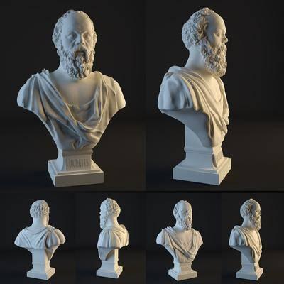 人像, 雕塑, 雕像, 石膏, 现代
