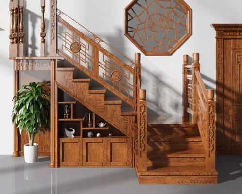 中式楼梯, 楼梯