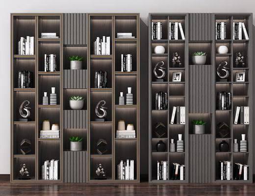 书柜, 书架, 书籍, 置物柜