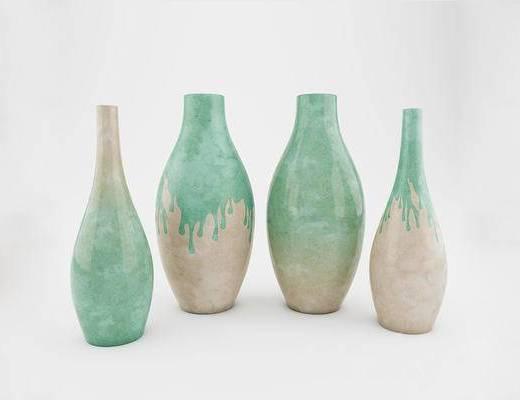 北欧简约, 陶瓷, 花瓶, 摆件, 陈设品
