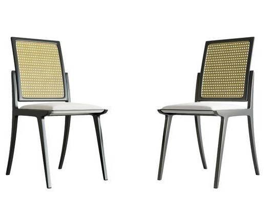 新中式, 餐椅, 单椅, 单体