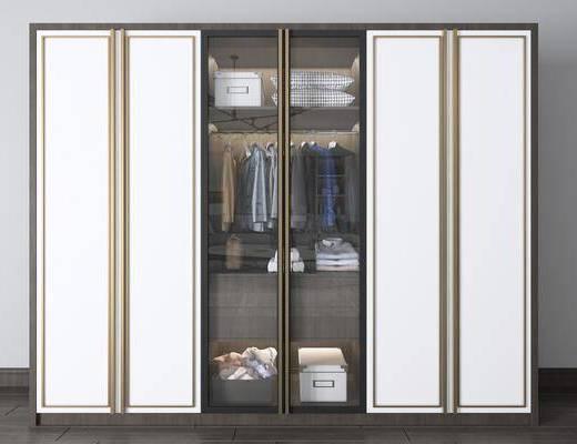 实木衣柜, 服饰, 现代