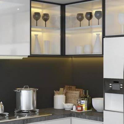厨柜, 橱柜, 现代, 厨具