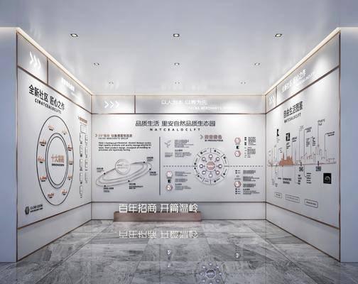 工装, 现代展厅
