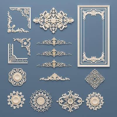 欧式石膏雕花, 灯盘, 构件, 底盘