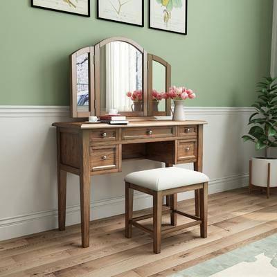 梳妆台, 桌椅组合, 摆件组合
