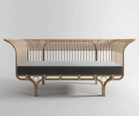 藤椅, 单椅, 现代