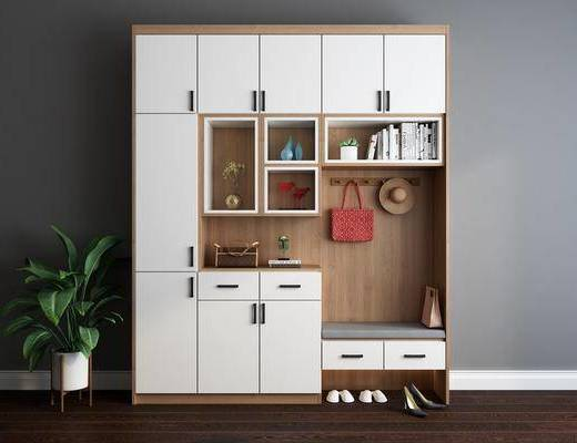 鞋柜, 柜架组合, 置物柜, 摆件组合