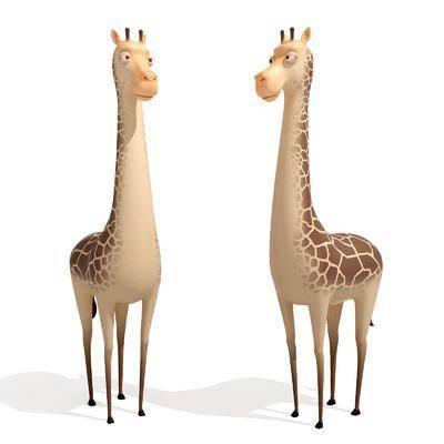 卡通长颈鹿, 玩偶, 现代