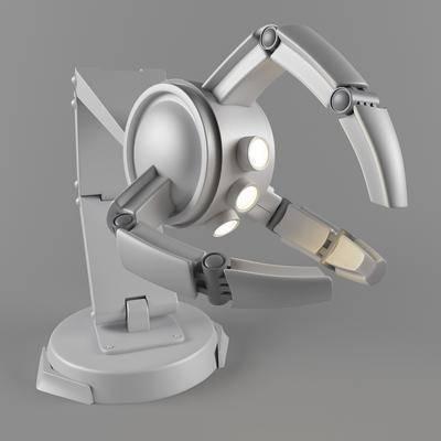 现代, 显微镜, 摆件, 单体