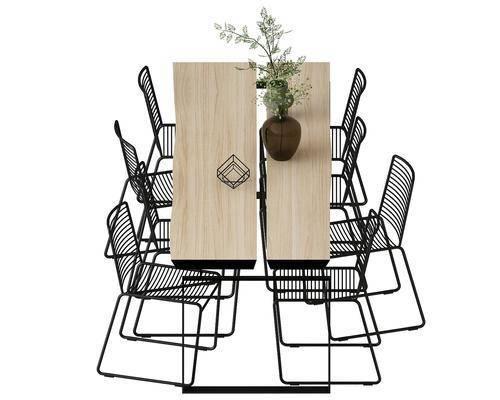 餐桌, 餐椅, 单人椅, 北欧
