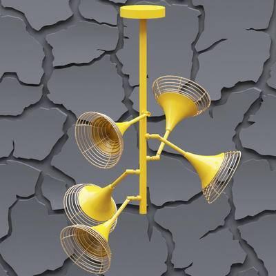现代吊灯, 金属吊灯