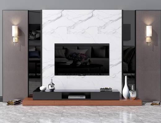 现代背景墙, 北欧电视背景墙, 中式电视背景墙, 现代电视柜, 北欧电视柜, 中式电视柜, 现代壁灯, 北欧壁灯, 中式壁灯, 现代, 新中式, 电视柜, 电视墙, 背景墙
