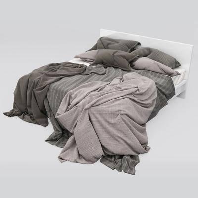双人床, 床具, 现代