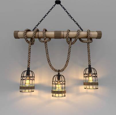 吊灯, 工业风