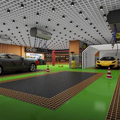 4S店, 汽车, 现代, 吸顶灯, 地毯