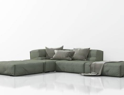 现代, 北欧, 简约, 多人沙发, 沙发