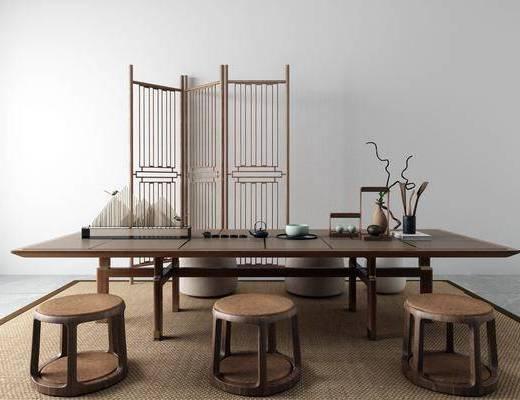 隔斷, 桌椅組合, 屏風, 餐具組合