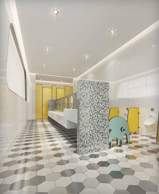 现代幼儿园卫生间, 洗手台