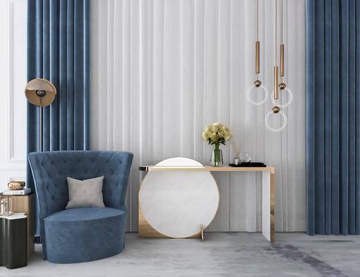 现代单椅, 单椅组合, 单椅