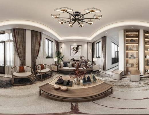 新中式客厅, 家装
