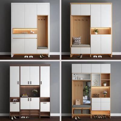 鞋柜, 柜架组合, 衣柜, 置物柜