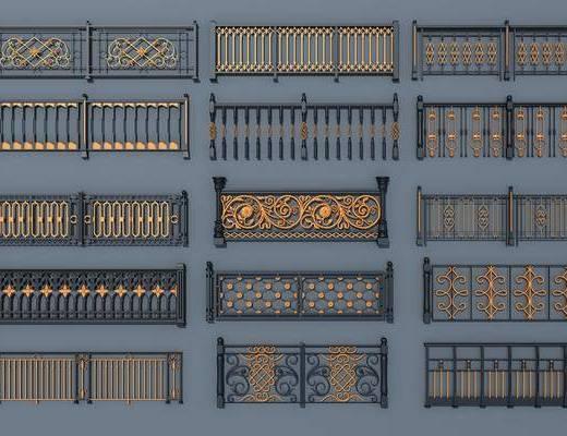 铁艺栏杆, 栏杆护栏, 现代