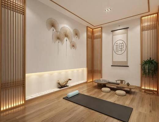 新中式瑜伽室, 茶桌