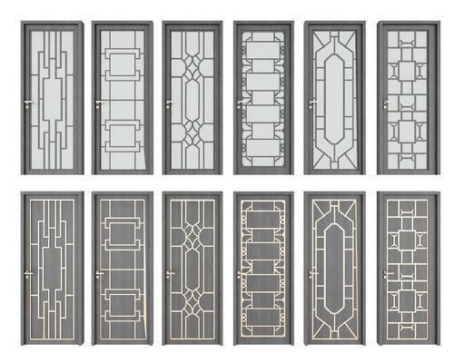 门, 推拉门, 新中式门