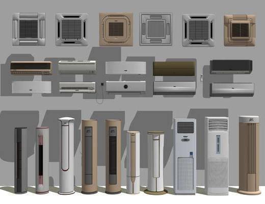 柜式空调, 挂壁空调, 电器